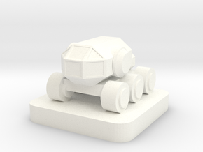 Mini Space Program, Crew Rover in White Processed Versatile Plastic