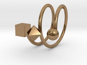 Trispirale size 58 in Raw Brass