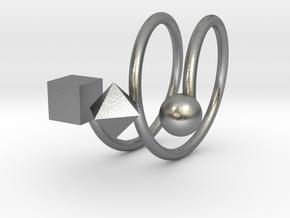 Trispirale size 54 in Natural Silver