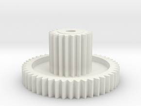 Hunter/Galaxy Idler gear 20T:48T in White Natural Versatile Plastic
