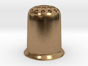 Thimble in Natural Brass