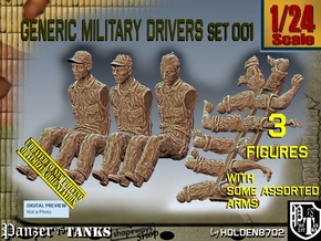 1/24 Military Drivers Set001 in White Natural Versatile Plastic