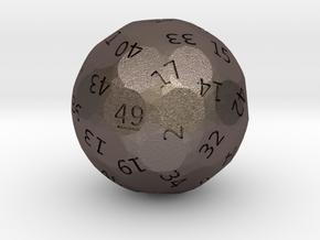d49 oddball die in Polished Bronzed Silver Steel
