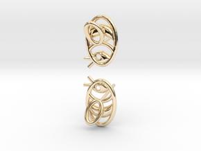 Bee Earrings V2.1 in 14k Gold Plated Brass