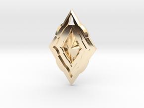 Diamond Pendant in 14k Gold Plated Brass