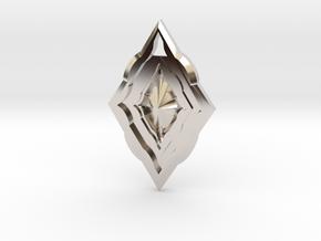 Diamond Pendant in Rhodium Plated Brass