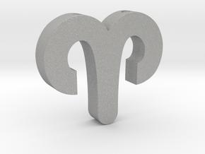 Aries Symbol Pendant in Aluminum
