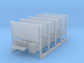 AFA JCDecaux Railboards 5 pcs in Smooth Fine Detail Plastic