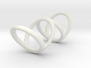 Ring for Bob L1 1 L2 1 D1 3 1-2 D2 4 1-2 D3 5 1-2 in White Natural Versatile Plastic