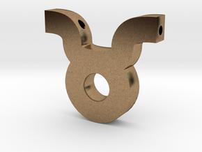 Taurus Symbol Pendant in Natural Brass