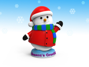 Snowman_Greets in Full Color Sandstone