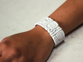 Mayan Date Bracelet in White Strong & Flexible