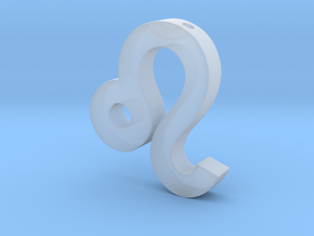 Leo Symbol Pendant in Smooth Fine Detail Plastic
