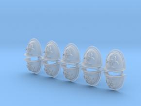 Biohazard Power Armour Shoulder Pads Mk2.5 in Smooth Fine Detail Plastic