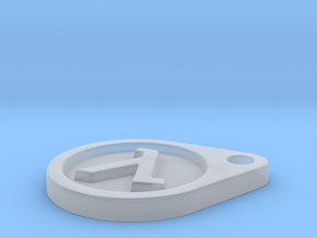 Half Life Logo Keychain in Smooth Fine Detail Plastic