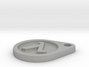 Half Life Logo Keychain in Aluminum