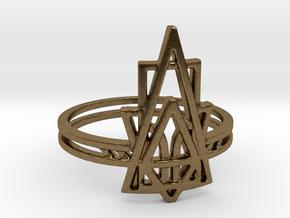 Viridiana Ring in Natural Bronze: 6 / 51.5