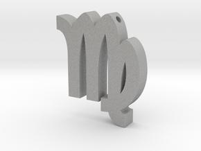 Virgo Symbol Pendant in Aluminum