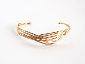 Cecilie Cuff Bracelet in Polished Bronze
