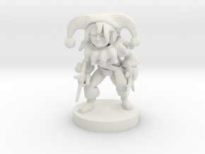 Halfling Female Circus Bard w/Star Knives in White Strong & Flexible