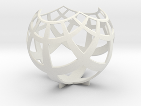 Grid (stereographic projection) in White Premium Strong & Flexible