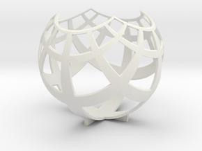 Grid (stereographic projection) in White Premium Versatile Plastic