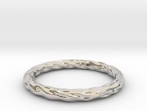 Valley Series Bracelet 63mm in Rhodium Plated Brass