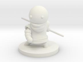 Monk in White Premium Versatile Plastic