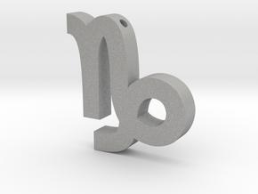 Capricorn Symbol Pendant in Aluminum