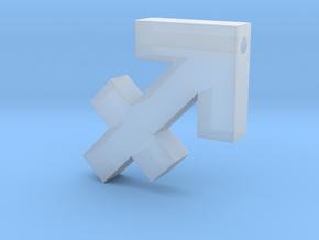 Sagittarius Symbol Pendant in Smooth Fine Detail Plastic