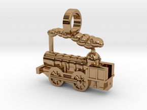 Locomotive Coppernob Jewellery Pendant in Polished Brass