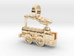 Locomotive Coppernob Jewellery Pendant in 14k Gold Plated Brass