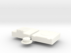 1/8 Fuel Cell RJS-5g-13-13-8-Sump in White Processed Versatile Plastic