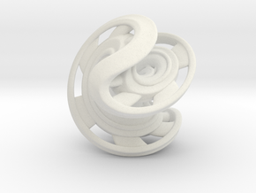 Ring X2 in White Natural Versatile Plastic: Small
