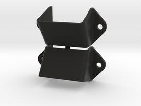 "2 Support de cales ""M2"" - 2 Wheels chocks holders  in Black Natural Versatile Plastic"