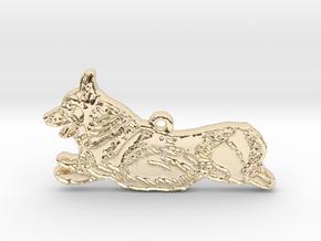Joyful Running (detailed) in 14k Gold Plated Brass