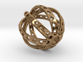 Ring X3 in Natural Brass: Small