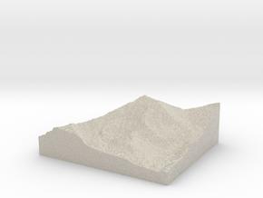 Model of Mount Democrat in Natural Sandstone