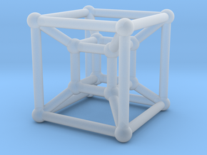 HyperCube in Smooth Fine Detail Plastic