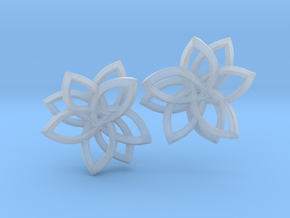 Pointset Earrings in Smooth Fine Detail Plastic