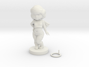 Angel in White Natural Versatile Plastic