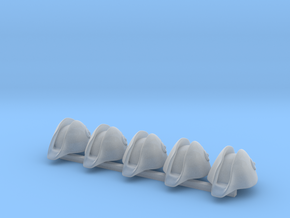 5 x Austrian Bicorne in Smooth Fine Detail Plastic