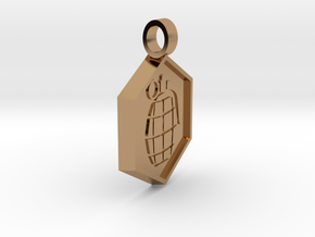 Bomb [pendant] in Polished Brass