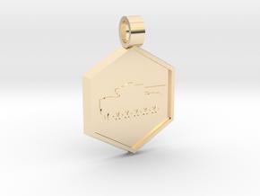 Tank [pendant] in 14K Yellow Gold