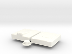1/18 Fuel Cell RJS-12g-16-18-9-Sump in White Processed Versatile Plastic