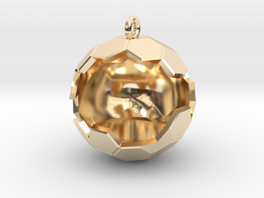 Geode Ornament in 14K Yellow Gold
