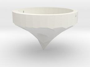 Hanging Tealight in White Natural Versatile Plastic