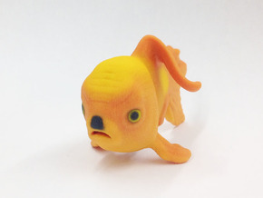Angry Hitler Goldfish in Full Color Sandstone