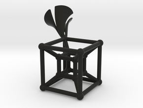 HyperCube Type 2 in Black Natural Versatile Plastic