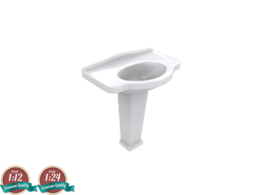 Miniature Galassia Ethos Washbasin - Galassia in White Natural Versatile Plastic: 1:24